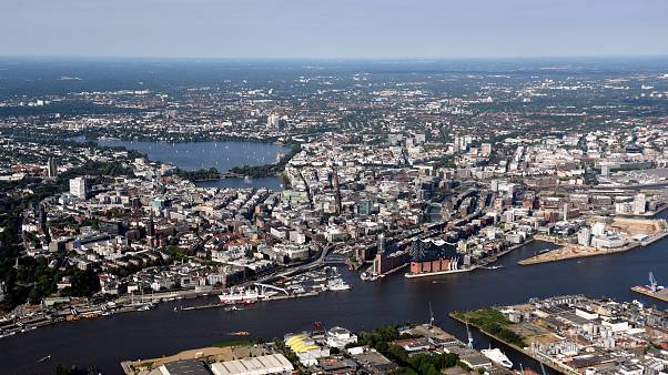 A general view of Hamburg, Germany on August 1, 2018.
