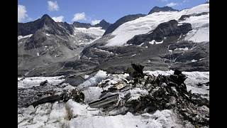 Melting glacier reveals WWII plane wreckage