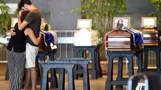 Primeros funerales por las víctimas del puente Morandi
