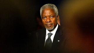 كوفي عنان الأمين العام السابق للأمم المتحدة، صورة أرشيفية