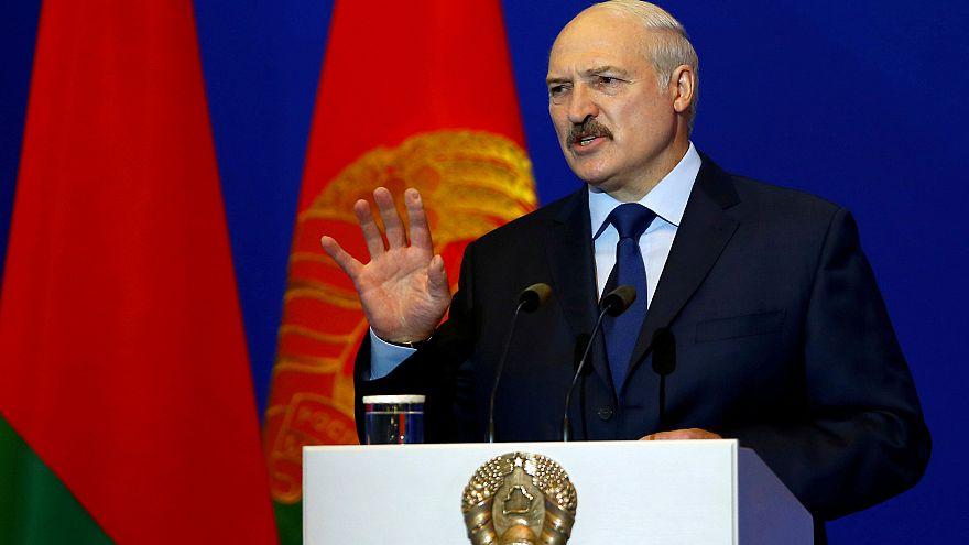 Präsident Alexander Lukaschenko bei einer Rede