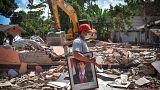 أنقاض خلفها زلزال لومبوك، 12آب/ أغسطس 2018