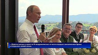 Nach dem Tanz mit der Braut: Putin gratuliert auf Deutsch