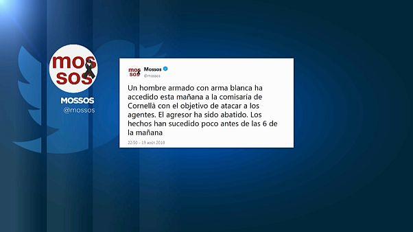 Des policiers attaqués au couteau près de Barcelone : l'agresseur abattu