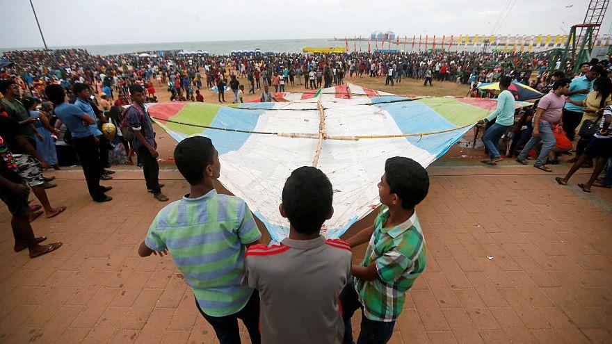 Sri Lanka'da uluslararası uçurtma festivali büyük ilgi gördü