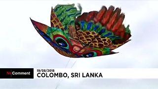 Papírsárkány-fesztivál Srí Lankán