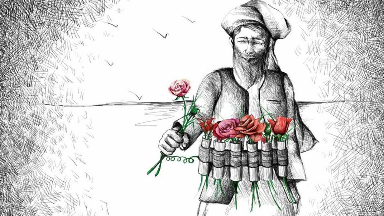 هنرمند افغان مشکلات جامعه را با کارتون نقاشی میکند