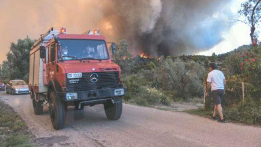 Σε εξέλιξη φωτιές στην Ηλεία