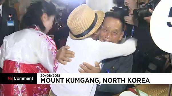 لذت آغوش والدین پس از شصت سال، دیدار خانوادههای جدا شدۀ دو کره