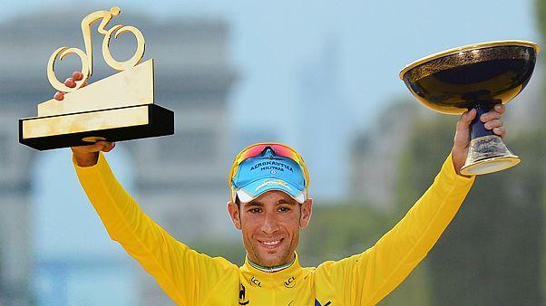 Vincenzo Nibali quando venceu a Volta a França pela Astana (2014)