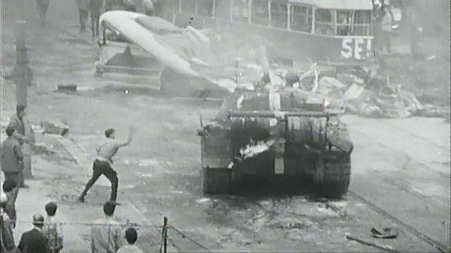 Διαδήλωση κατά της σοβιετικής εισβολής στην Τσεχοσλοβακία