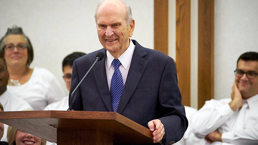 Russell M Nelson on August 17, 2018.