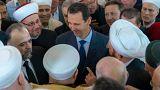 الأسد يؤدي صلاة عيد الأضحى في دمشق