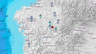 Un terremoto de magnitud 4.1 sacude Galicia