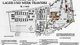 Map of the Trawniki Nazi concentration camp