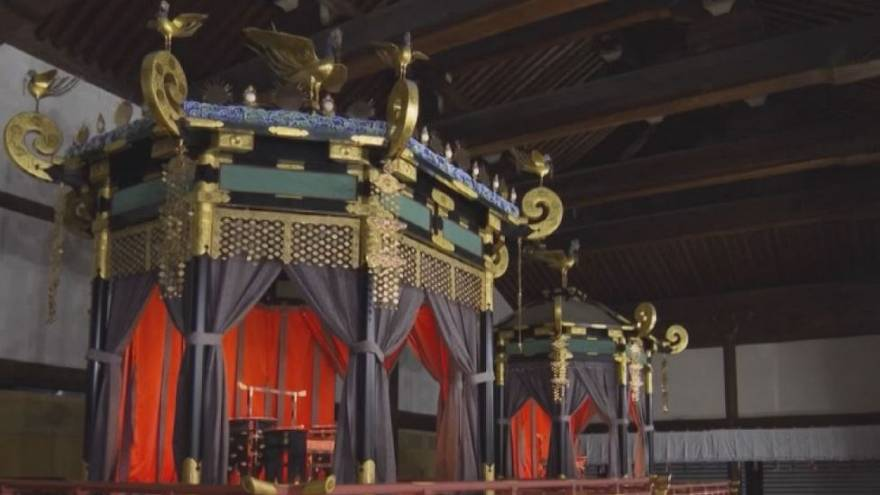 Watch: Century-old throne refurbished ahead of Japanese enthronement