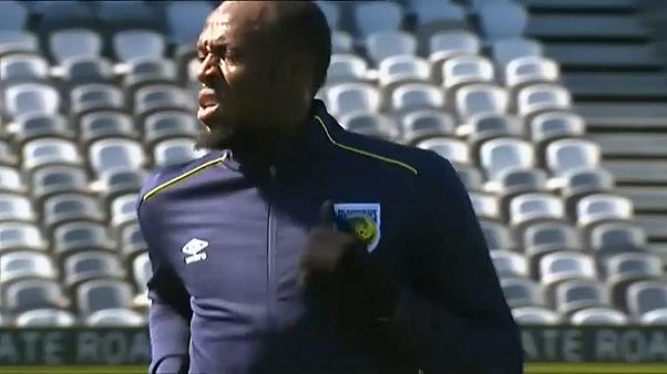 Usain Bolt első fociedzése ausztrál csapatánál