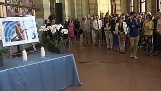 مراسم یادبود کوفی عنان در مقر اروپایی سازمان ملل