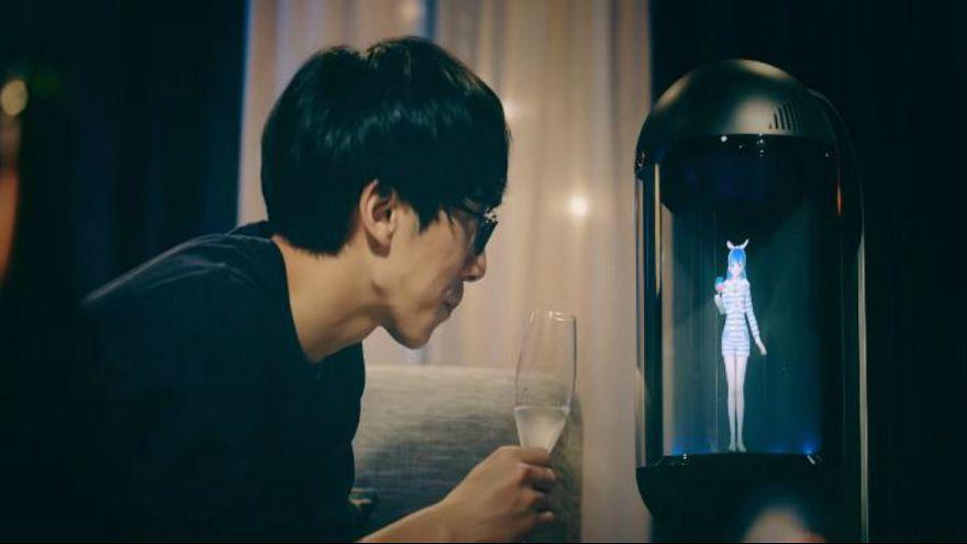 Gatebox holographic virtual assistant Hikari