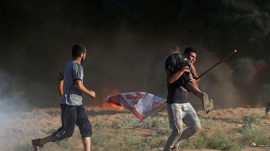 """""""Büyük Yürüyüş"""" gösterilerindeki Filistinliler"""