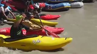 Watch: World's 'highest' rafting and kayaking event