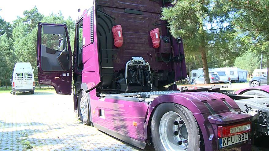 Fernfahrerprotest in Litauen
