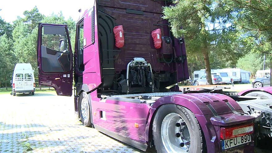Protesto contra regras europeias em matéria de repouso dos camionistas