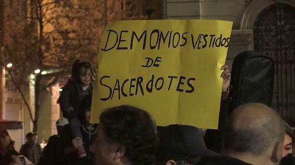 Protesta en Chile contra los abusos de la Iglesia Católica