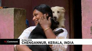 Vuelta a casa de los daminificados de Kerala
