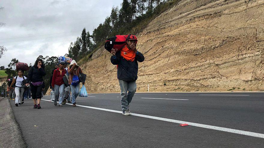 Venezuela: Ekonomik kriz nedeniyle yaşanan göç durdurulamıyor