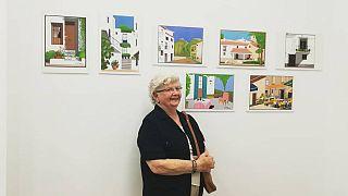 Concha, l'artista spagnola di 88 anni che dipinge paesaggi con Paint