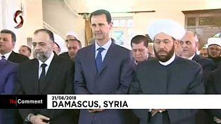 حضور بشار اسد در مراسم نماز عید قربان