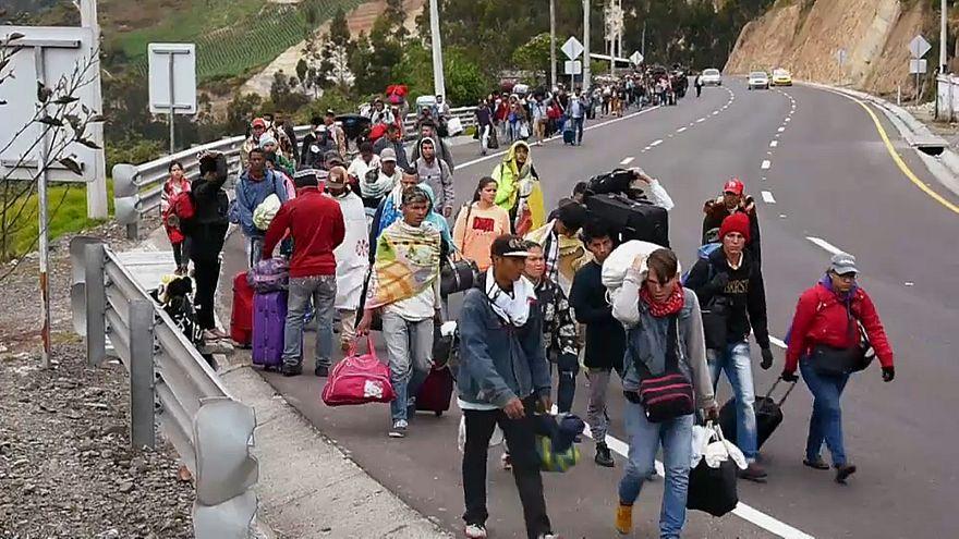 Venezuelanos procuram abrigo em países vizinhos