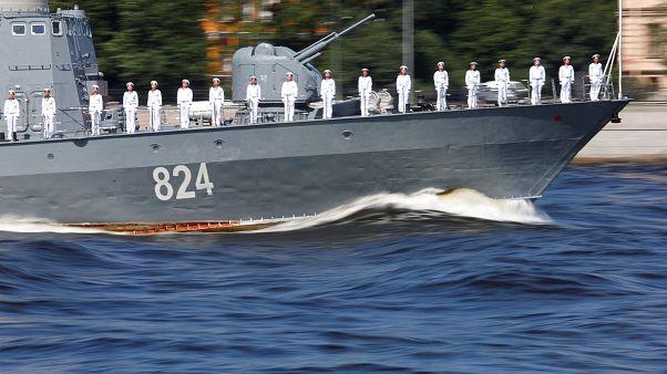سفينة حربية تابهة للبحرية الروسية/ صورة أرشيفية