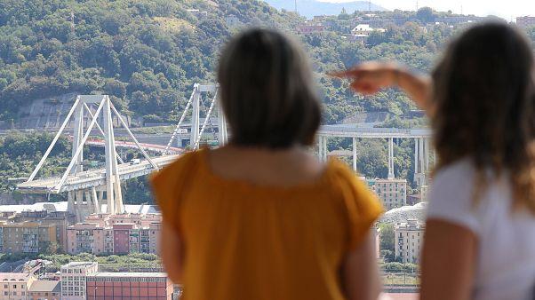 Cenova'da çöken Morandi Köprüsü