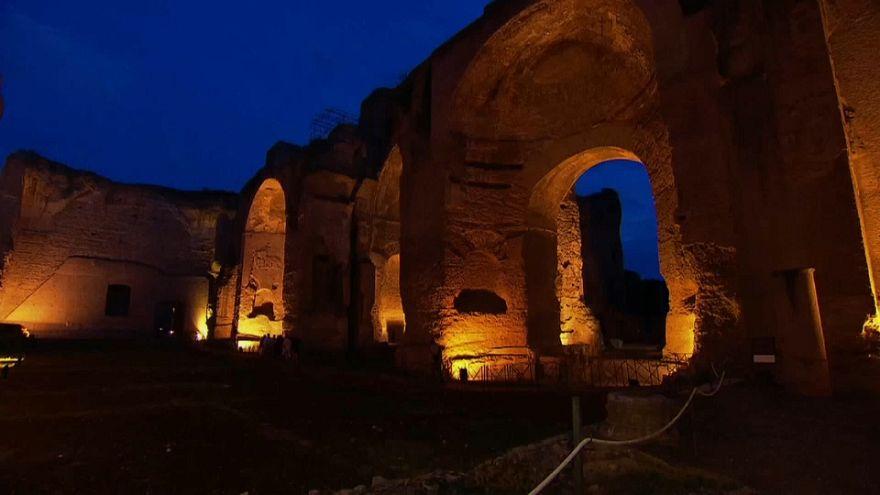 Terme di Caracalla sotto la luna
