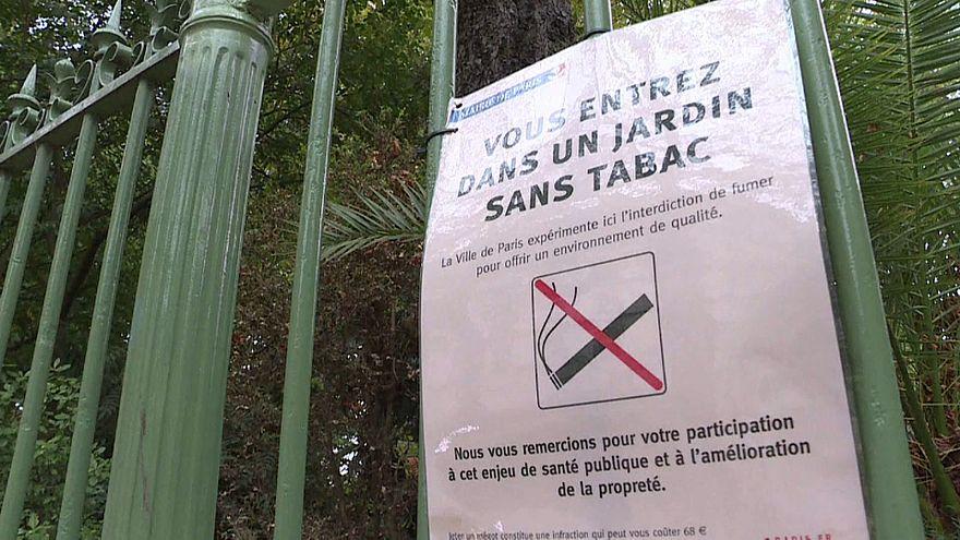 Des jardins publics sans tabac à Paris