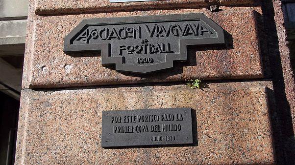 Pórtico histórico da primeira sede da Associação Uruguai de Futebol