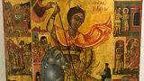 Επιστρέφει στην Κύπρο η κλεμμένη εικόνα του Αγίου Γεωργίου Καραβά