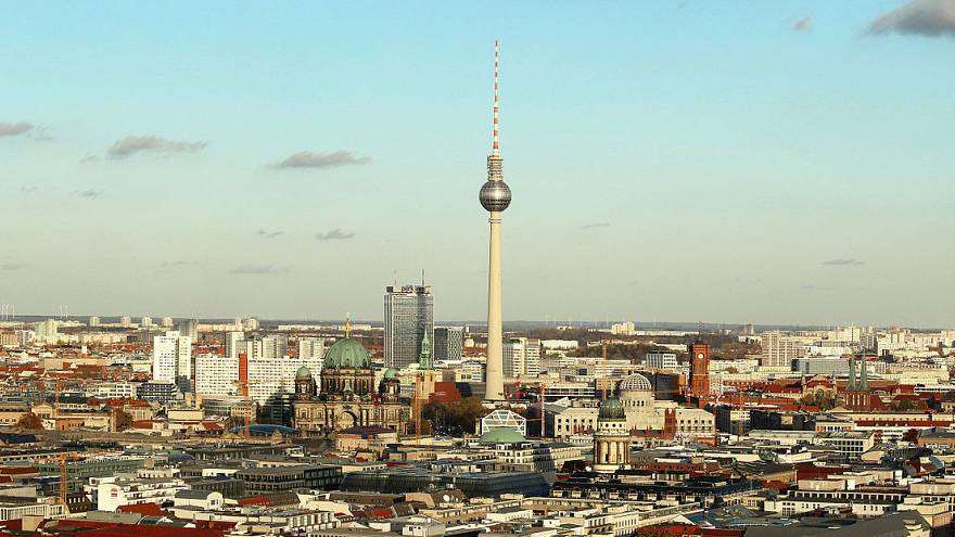 City of Berlin with TV tower, palace and cathedral - Berlin, Germany