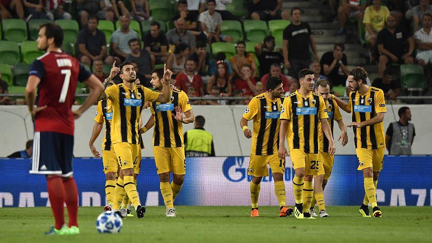 Bajnokok Ligája: vereséget szenvedett a Vidi az AEK Athéntól