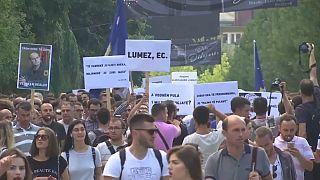 Protesta en Kosovo contra la corrupción