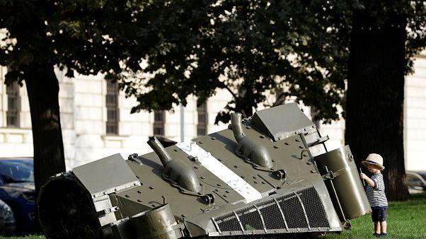 Давид Черни, памятник вводу советских войск в Чехословакию