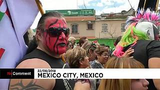 Watch: Mexican wrestlers celebrate Mass following pilgrimage
