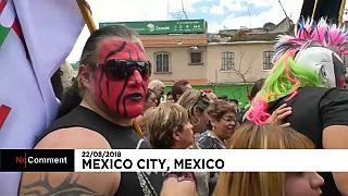 Peregrinación de luchadores mexicanos