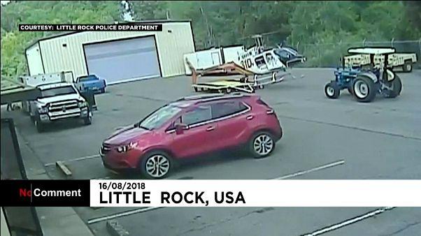 Крушение полицейского вертолета в США