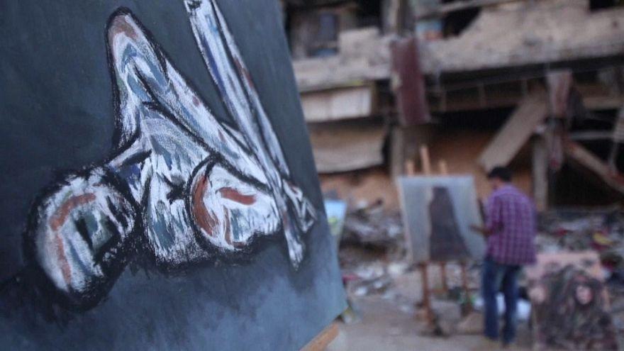 """Siria: l'arte """"sboccia"""" dalle macerie"""