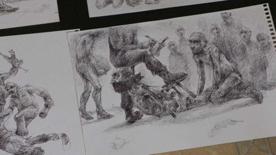 La storia di Najah, rifugiato siriano che disegna torture