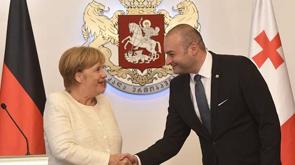 Angela Merkel visits Georgia to discuss refugees