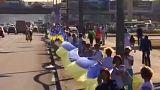 Un drapeau ukrainien long de 2700 mètres!
